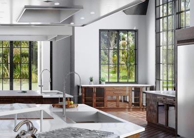 Render interior de cocina