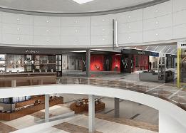 Render interior de centro comercial en españa Lumion vray 3dmax