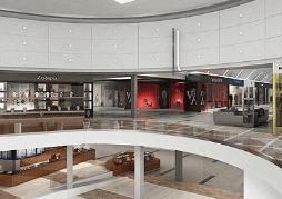 Render 3d Barcelona centro comercial en España 3dmax vray lumion