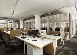 Render 3d Barcelona oficina en España 3dmax vray lumion