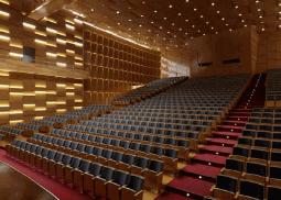 Render 3d Madrid auditorio en España 3dmax vray lumion